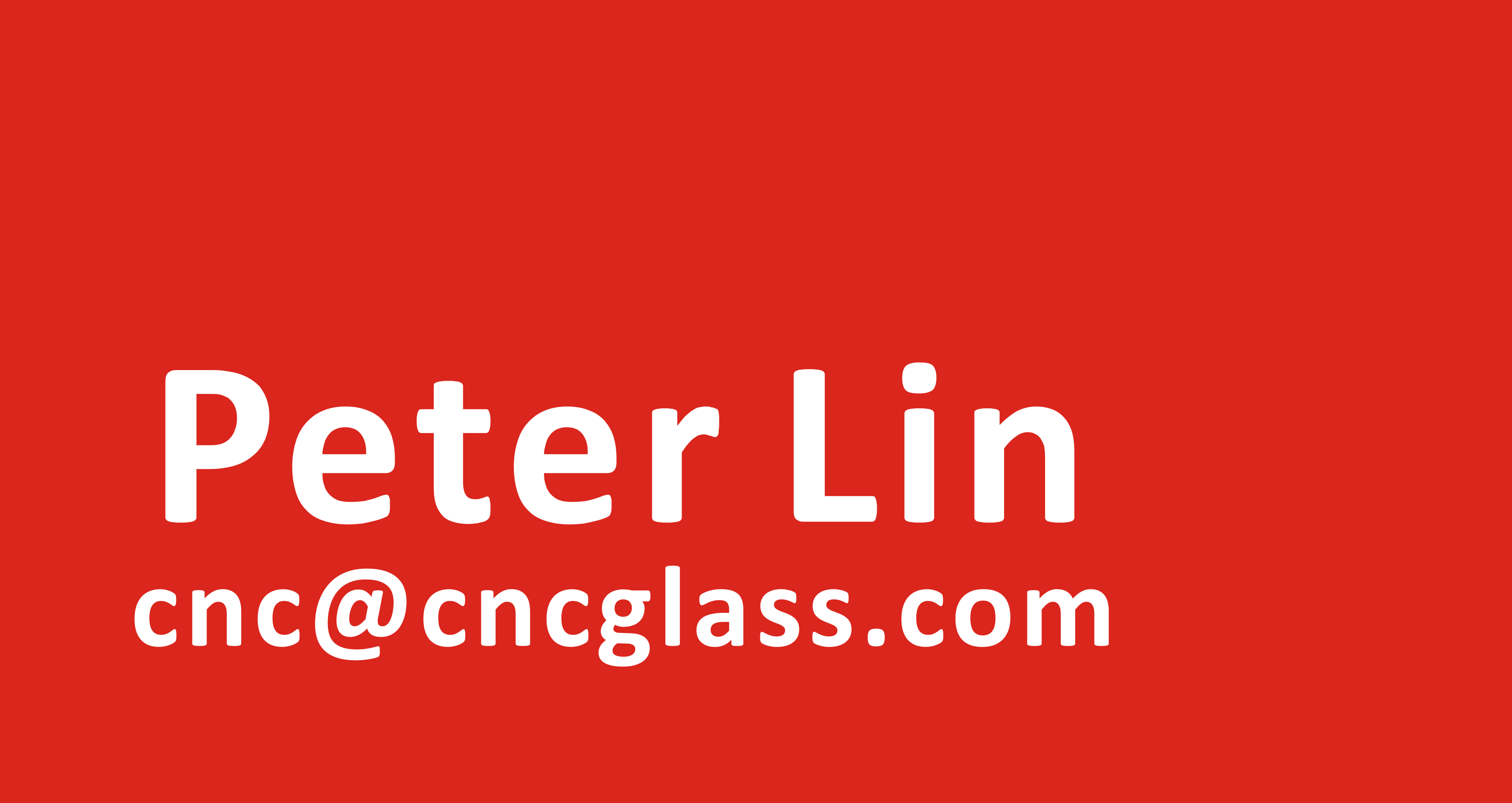 Peter Lin@CNCGLASS